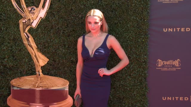 Hunter King at the 44th Annual Daytime Emmy Awards at Pasadena Civic Auditorium on April 30 2017 in Pasadena California