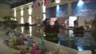 KTLA Hurricane Harvey Floods Evacuee Shelter in Richmond Gallery Furniture Grand Parkway