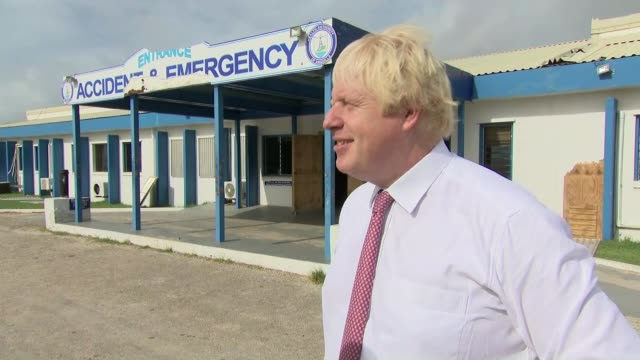 Boris Johnson interview ANGUILLA EXT Boris Johnson MP interview SOT