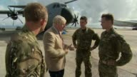 Boris Johnson visits islands and pledges aid ANGUILLA EXT Various of Boris Johnson MP speaking to military personnel after arriving on the island to...