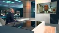 Boris Johnson visits islands and pledges aid BERMUDA Hamilton INT Burt interview continues SOT