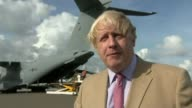 Boris Johnson visits islands and pledges aid Boris Johnson MP interview SOT