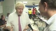 Boris Johnson visits islands and pledges aid BRITISH Boris Johnson MP interview SOT