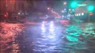 WPIX Hurricane Sandy Flooding In New York City on October 30 2012 in New York City New York