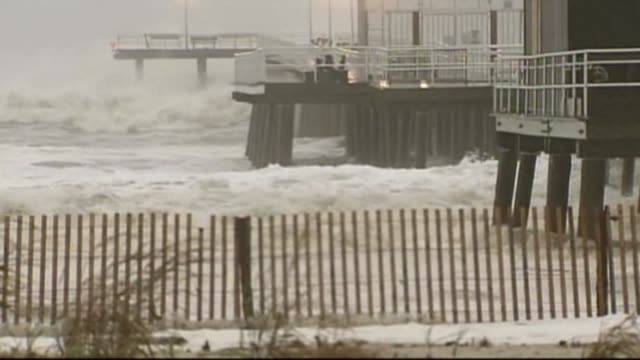 Hurricane Sandy Hits East Coast on October 29 2012 in New York New York