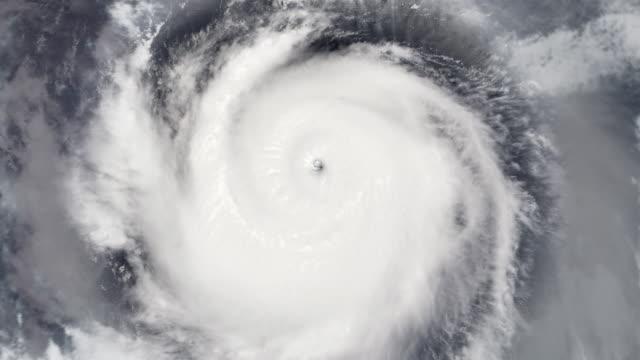 Hurricane Satellite View Zoom to Eye (HD)