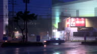 Hurricane Torrential Rain And Wind Lashes Town