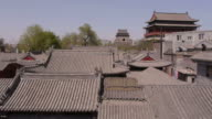 Hutong, Drum Tower, Bell Tower, rooftops, trees, Beijing, China