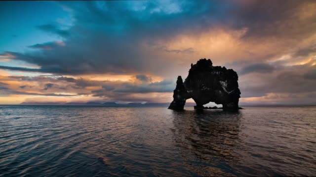 Hvitserkur in Iceland - Slow Motion