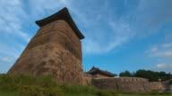 WS T/L Hwaseong Castle Seobukgongsimdon and Hwaseomun Gate (UNESCO World Heritage) / Suwon, Kyonggi-Do Province, South Korea