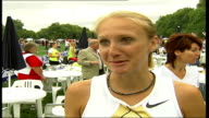 Hydro Active Women's Challenge race in London Paula Radcliffe interview SOT On looking forward to race in fun run raising money for charity on...