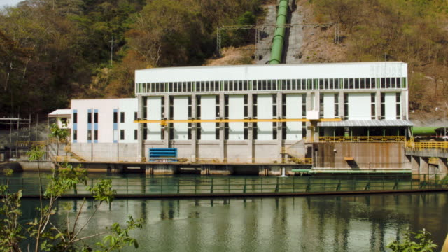 A hydroelectric plant run by Costa Rican Institute produces electricity