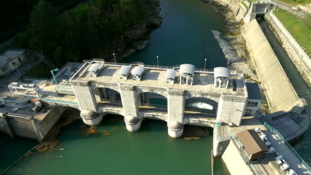 AERIAL Hydroelectric Power Station On Soca River