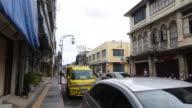 4K Hyper Zeitraffer auf Phuket die Altstadt zu Fuß unterwegs