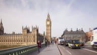 Hyper lapse on Westminster Bridge towards the Palace of Westminster.