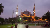 TL Hyperlapse across Blue Mosque day to night