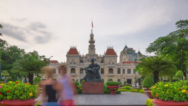 Hyperlapse along Central Boulevard in Ho Chi Minh City (Saigon).