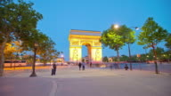 TL Hyperlapse Arc de Triomphe day to night