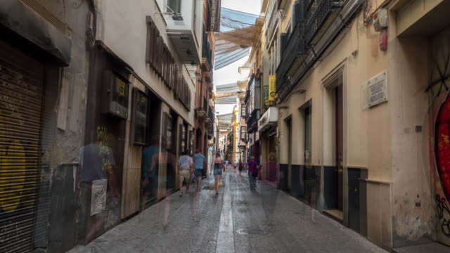 hyperlapse cuna street in sevilla Spain