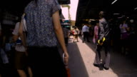 HD hyper-lapse : Enjoy walking in the Thailand market.