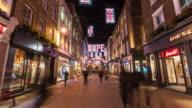 LONDON: Hyperlapse of Carnaby street with Christmast Light