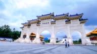 Hyperlapse van Chiang Kai Shek (CKS) memorial hall in de stad van Taipeh