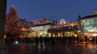 LONDON: Hyperlapse of Covent Garden Market with Christmas Decorations