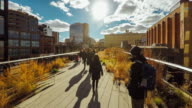 Hyperlapse die High Line Park in New York City