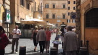 Hyperlapse to The Pantheon through nearby streets, Rome