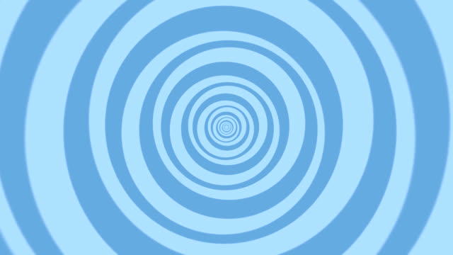 Hypnotic, Magical, Turning Circles in Blue for Backgrounds