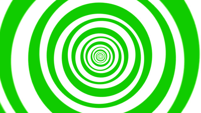 Hypnotic, Magical, Turning Circles in Green/White for Backgrounds