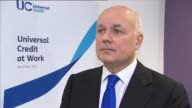 London Westminster INT Iain Duncan Smith MP interview SOT re introduction of Universal Credit EU renegotiation and referendum