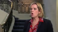 Iain Duncan Smith speaks publicly after resignation Amber Rudd MP interview SOT