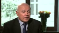 Iain Duncan Smith speaks publicly after resignation Amber Rudd MP setup shot along up stairs / interview SOT Ian Duncan Smith has been in cabinet for...