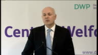 Iain Duncan Smith speech on welfare reform Iain Duncan Smith speech continued SOT Beveridge warned of five giant evils in society idleness want...
