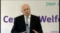 Iain Duncan Smith speech on welfare reform Iain Duncan Smith speech continued SOT simpler fairer and more affordable way of making sure that work...