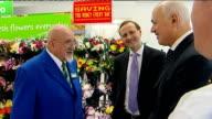 Iain Duncan Smith visits Asda supermarket in London ENGLAND London Old Kent Road INT Iain Duncan Smith MP arriving at ASDA supermarket / various of...