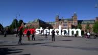IAmsterdam Museumplein with Rijksmuseum, Amsterdam, the Netherlands