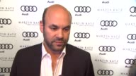 Ian Gomez on kicking off Golden Globe week at this party what he's most looking forward to this evening what he thought of the Audi A8 his plans for...