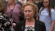 Statements outside court ENGLAND Nottingham Nottingham Crown Court Caroline Marsh speaking to press SOT Pamela Jane speaking to press SOT Diane Green...