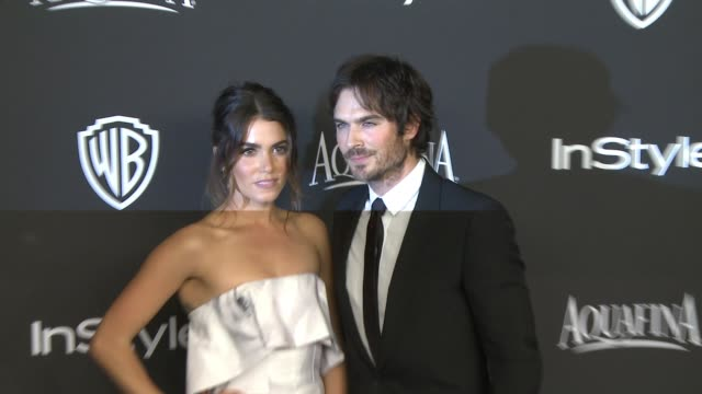 Ian Somerhalder and Nikki Reed at 16th Annual InStyle And Warner Bros Golden Globe AfterParty on January 11 2015 in Beverly Hills California