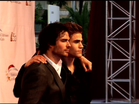 Ian Somerhalder and Paul Wesley at the 50th Monte Carlo TV Festival Opening Ceremony Arrivals at Monaco