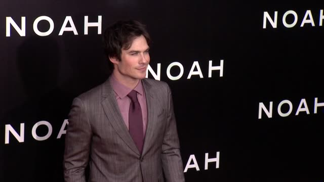 Ian Somerhalder at 'Noah' New York Premiere Arrivals at Ziegfeld Theater on March 26 2014 in New York City