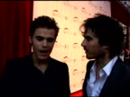 Ian Somerhalder Nina Dobrev and Paul Wesley at the 50th Monte Carlo TV Festival Opening Ceremony Arrivals at Monaco