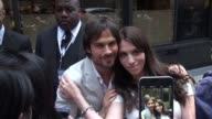 Ian Somerhalder poses for photos with fans outside of The London NYC Hotel Celebrity Sightings in New York on May 14 2015 in New York City New York