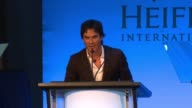SPEECH Ian Somerhalder speaks at the Heifer International Hosts 4th Annual Beyond Hunger 'A Place at the Table' Gala at Montage Beverly Hills on...