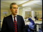 i/c Busy ward PAN to BV patient on trolley Keith Ford interview SOT Our health authority has funded an extra 60 beds over last 18 months/ by doing...