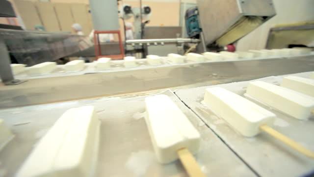 Ice cream conveyor wide shot