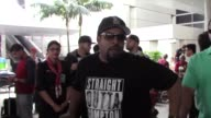 Ice Cube talks about Straight outta Compton as he arrives at LAX Airport in Los Angeles in Celebrity Sightings in Los Angeles