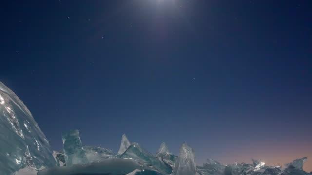Ice field in Sunset